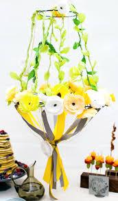 diy paper flower chandelier tutorial ff team paper chandlier brunch