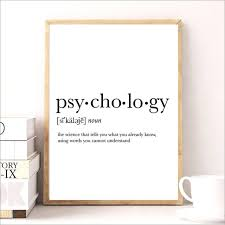 Quote Definition Inspiration Aliexpress Buy Psycholog Gifts Print Funny Definition Poster