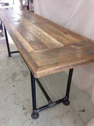 industrial counter height table. Reclaimed Wood Dining Table Industrial 8 Ft X 2 , 36\u0026quot; Height, Counter Height N