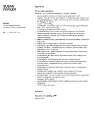 Public Relations Resume Resumes Summary Examples Internship