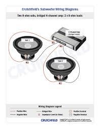 subwoofer wiring diagrams 2 svc 8 ohm 4ch
