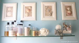 diy beach bathroom wall decor. Inspiring Bathroom Art Decor Ideas With Nice Shell And Sea Theme Diy Beach Wall E