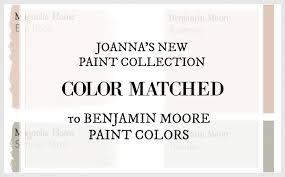 Magnolia Paint Colour Chart Fixer Upper Paint Colors Magnolia Home Paint Color Matched