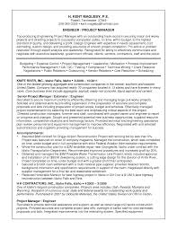 Sample Resume Project Manager Position Epic Of Engineer With