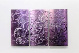 large purple metal wall art