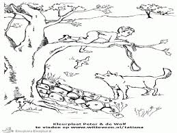 Peter And The Wolf Coloring Page Free Download