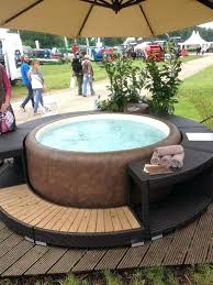 round hot tub surround hot tub surround ideas perfect set up for a backyard patio deck round hot tub surround
