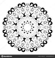 круговой узор в виде мандалы для хны менди тату украшения