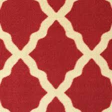 ottomanson ottohome collection contemporary morrocon trellis design runner rug with non skid rubber backing lattice 1 10 x 7 0 red ottomanson