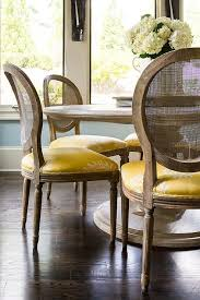 chairs and yellow seat cushions view full size chic dining room