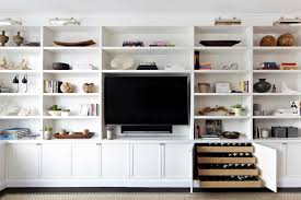 how to decorate built in shelving