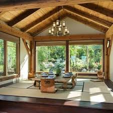 Zen home office Meditation Room Home Office Living Space Zen Outdoors Floor To Ceiling Windows Interior Design Inspiration Tatami Mats Hhoainfo Home Page Tatami Zen