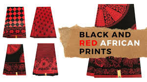 latest red african fabric real