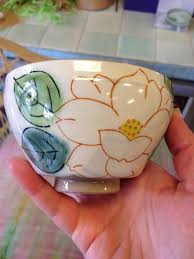 ceramic painting idea flower bowl