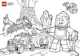 Small Picture Volcano Explorers Colouring Page LEGO City Activities City