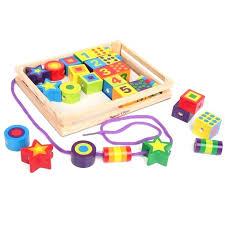wooden lacing beads lacing beads in a box wooden toy melissa doug deluxe wooden lacing beads