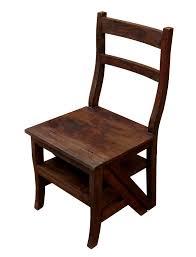 uag 309 t folding chair library step 45x45x110 cms acasia wood 01