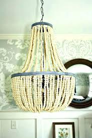 chandeliers elena wood bead chandelier pottery barn beaded