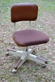 vintage metal office chair. vintage office chair beige metal rolling swivel by panchosporch 9500