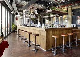 industrial style restaurant furniture. Andy Thornton Supplied Factory Bar Stools Vintage And Vintagestyle Chairs To The New Opening Of Italian Restaurant Rossopomodoro In Wandsworth Industrial Style Furniture