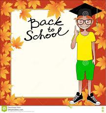 Back To School Invitation Template School Template Invitation Card Stock Vector Illustration Of
