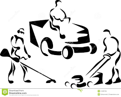 commercial lawn mower silhouette. royalty-free vector. download lawnmower commercial lawn mower silhouette