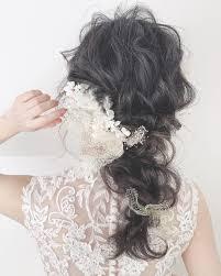 列席者みんなに褒められる可愛い髪真似したくなるほど素敵な花嫁ヘア