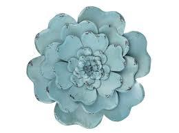 blue layered metal flower wall decor art fl