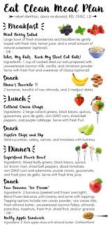 Diet Chart For Vegetarian Weight Loss Eat Clean Meal Plan Rebeldietitian Us In 2019 Clean