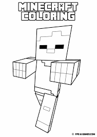 minecraft coloring pages zombie pigman creativemove me and