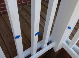 a pressure treated deck painted white paint ing screen shot