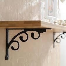2x rustproof wall mounted shelf bracket
