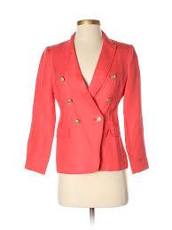 Details About Banana Republic Women Pink Blazer 2 Petite