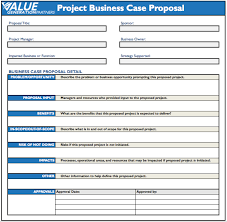 Business Case Proposal Template