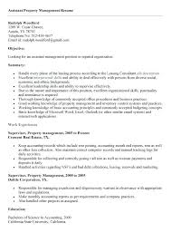 Property Manager Resume Assistant Property Manager Resume Necessary