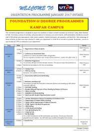 department of student affairs kampar campus orientation programme 2017 intake