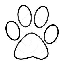Small Picture Paw Print Graphics Free Coloring Coloring Pages