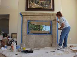 Decorative Stone Fireplace grizel's painted marble, stone match decor,  samples, photos
