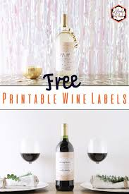 Free Printable Wine Labels Printable Wine Labels Label Etsy Seogreat Info