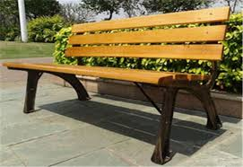 trendy outdoor furniture. Stable Metal / Wood Structure Decorative Outdoor Furniture Modern Bench With Backrest Board Trendy