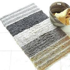 bath rugs winsome striped bathroom rug chunky loop stripe the variegated stripes on this plush mats striped bathroom rug