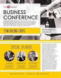 Business Conference Free Flyer Template Freebie Freepsdflyer
