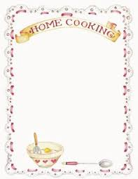 recipes cookbook graphics blank recipe pages