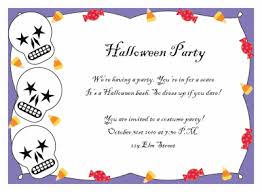 invitation for a party printable halloween party invitations