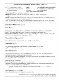 Physician Assistant Resume Examples Beauteous Physician Assistant Resume Sample Unique Physician Assistant Resume