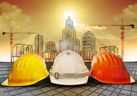 Safety Helmet And Sketching Of Building Stock Photo Colourbox
