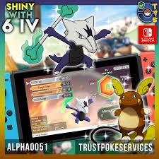 Pokemon Let's Go - Shiny 6 IV All Alolans available Marowak Raichu - Trust  Poke Services