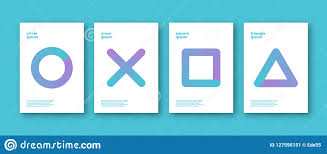 simple covers set of minimalistic simple shapes backgrounds abstract