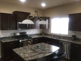 contemporary kitchens with dark cabinets. Modern Kitchen: Dark Cabinets, Quartz Countertops, And DYI Mother Of Pearl Tile Contemporary Kitchens With Cabinets S