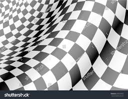 Checkered Design Checkered Flag Waved Design Race Championship Stock Vector